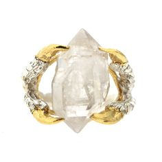 LOVE this ring!  raw, not horribly girly, rough yet somewhat elegant   Tessa Metcalfe   Wolf & Badger
