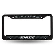 Los Angeles Kings NHL Black License Plate Frame xyz