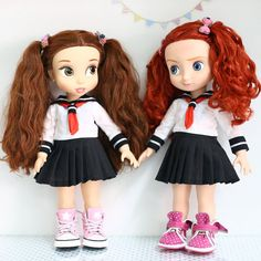 Doll clothes for Disney animator dolls 16. by RabbitinthemoonThai OMG SAILOR MOON SCHOOL GIRL OUTFITS!.. pretty sure I can make these (with the bow instead of tie of course)