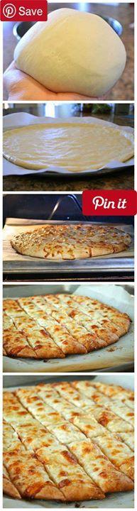 Fail-Proof Pizza Dough and Cheesy Garlic Bread Sticks Produce 2 cloves Garlic Condiments 1 tbsp Honey Baking