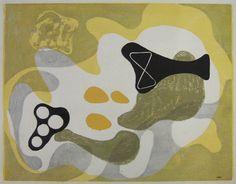 "Koshiro Onchi, ""Poème No.7 Landscape of May"" 1948 (Printed later) Woodblock, Multicolor Image size: 32.5x44.8cm Sheet size: 39.3x48.8cm Stamped *Raisonne No.296 (Keisho-sha)"
