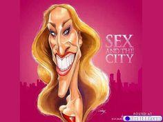 a-celeb-caricatures-3. Sarah Jessica Parker