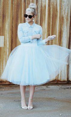 Baby blue  tulle skirt tutu skirtadult tutu light by HiddenRoom-$75.00+