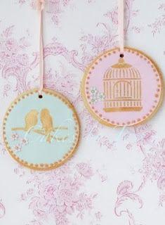 Birdcage & bird cookies