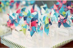 mini pinwheel name card - Google Search