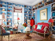 decoracion de sala con sofa rojo - Buscar con Google