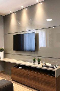 Tv Cabinet Design, Tv Wall Design, House Design, Tv Unit Decor, Tv Wall Decor, Wall Tv, Living Room Interior, Living Room Decor, Apartment Interior