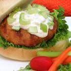 Buffalo chicken burgers - these are good.  I skipped the blue cheese and used ranch.