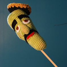 Here is a little Fan Art I made of Jeff Dunham 's character : José Jalapeño (on a stick!) Edit : Pattern now available in my brand new Etsy shop : www.etsy.com/listing/181189260…
