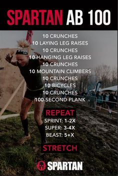 Spartan Ab 100 Workout