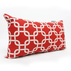 Majestic Home Goods Red Links UV-Protected Rectangular Outdoor Decorative Pillow