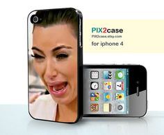 iPhone 4S Case, Kim Kardashian Crying Ugly Face, iPhone Hard Case, iPhone Silicone Case, Plastic Phone Cases,Case for iPhone, iphone 4 case on Etsy, $9.99