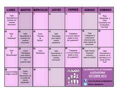 Cartel de la programación de los talleres de Ajudadona