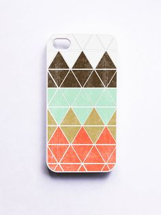 iphone 4 Case Geometric 1 in Mountain by onyourcasestore on Etsy, $16.99