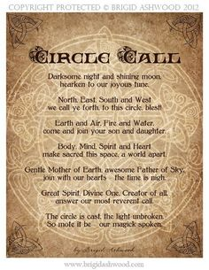 I cast a circle tonight; one doesn't have to follow these words exactly, but I admire them