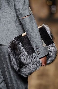 Fur Bag , inspires me to make something similar, maybe with some handles. - used designer handbags, cute handbags on sale, big handbags for women Fall Handbags, Handbags On Sale, Luxury Handbags, Purses And Handbags, Leather Handbags, Ladies Handbags, Ladies Purse, Handbags Online, Leather Clutch