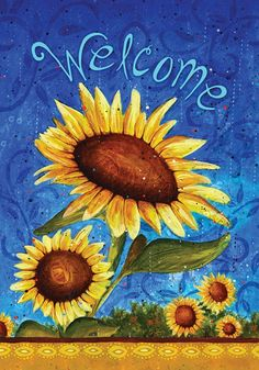 Spring garden flags - Spring sunflowers small Spring garden flag. Visit us for more information and where to buy!