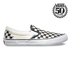 Vans 50th Slip-On Pro Shoes (50th) '82 Checkerboard - Vans UK Official Online Store