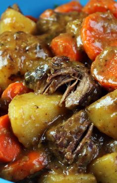 Old Fashioned Beef Stew updated recipe from Jenny Jones (JennyCanCook) ...with meat so tender you can eat it with a spoon! #JennyCanCook #beefstew