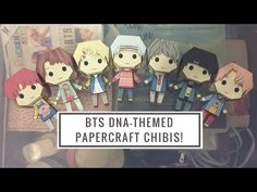 DIY BTS DNA-themed Papercraft Chibis - YouTube