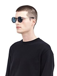 Latest men's accessories Yohji Yamamoto Sunglasses in grey. Round Sunglasses, Mirrored Sunglasses, Mens Sunglasses, Retail Concepts, Yohji Yamamoto, Sunglasses Accessories, Fashion Outfits, Women, Clothing