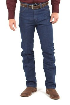 For a jean that's always in season, these Wrangler Cowboy Cut Slim Fit Jean are sure to never go out of style. Features a classic five pocket styling and a slim fit. Men's Jeans, Jeans Dress, Wrangler Cowboy Cut, Jeans Material, Denim Jackets, Colored Denim, Going Out, Hunting, Black Jeans