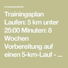 Trainingsplan Laufen: 5 km unter 25:00 Minuten: 8 Wochen Vorbereitung auf einen 5-km-Lauf - RUNNER'S WORLD