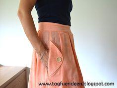Kleid Janie & Rock Wedgwood im Handloom-pfirsich-Look Straight Stitch, Stitch Design, Wedgwood, Skirts, Fashion, Peach, Indian, Fabrics, Moda