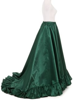 fba1ca4b2c Victorian Satin Ruffled Skirt in choice of Black Acetate Satin (can be  bustled up)
