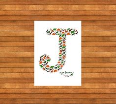 Dinosaur Letter Picture A3  Memories by WordPerfectPictures
