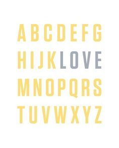 The REAL alphabet.