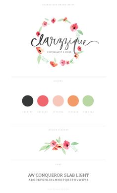 Recent Work : Clarzzique | Eva Black Design. Color scheme