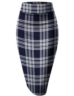 2c91d39ed H&C Women's Elastic Waist Stretchy Office Pencil Skirt Made in USA at Amazon  Women's