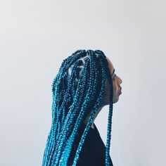 Blue Box Braids I sang out loud this is so pretty #bluealldayeveryday