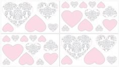 Pink and Gray Elizabeth Baby, Childrens and Kids Wall Decal Stickers by Sweet Jojo Designs - Set of 4 Sheets Sweet Jojo Designs http://www.amazon.com/dp/B00EO386JG/ref=cm_sw_r_pi_dp_eOsRub1XSGF9P