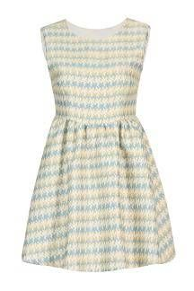 Sleeveless Dress in Houndstooth Print -