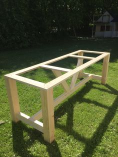 bord 4 Diy Picnic Table, Diy Dining Room Table, Patio Table, Diy Home Furniture, Garden Furniture, Diy Esstisch, Build A Farmhouse Table, Outdoor Sinks, Diy Terrasse