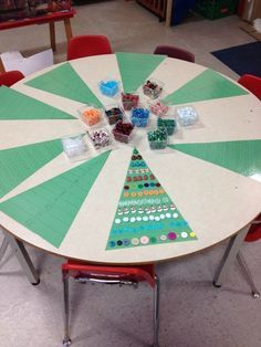 1-12 decorating of a Christmas tree **put dots for each # to help children who may need help counting.