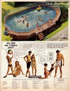 Coleco above-ground swimming pools (1970)