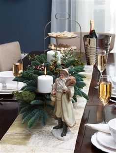 Make your table shine with festivity with traditional evergreen foliage such as the Mountain Meadow Centerpiece. Christmas Colors, Christmas And New Year, White Christmas, Christmas Fun, Xmas, Christmas Centerpieces, Christmas Decorations, Holiday Tablescape, Holiday Decorating