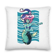 Throw Pillow Cases, Throw Pillows, Pillow Inserts, Mermaid, Printing, Zipper, Dance, Products