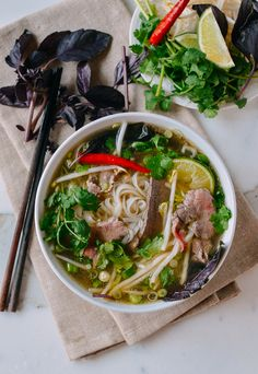 Pho (Vietnamese Beef Noodle Soup)   by thewoksoflife.com