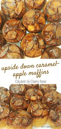 Lightly caramelized apples bake under this moist, gluten-free muffin for a delicious whole grain and healthy snack. Serve these Gluten-free Upside Down Caramel