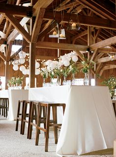 Decorated for the reception inside the dock house. (Photo Credit: Marni Rothschild) #SouthernWeddings
