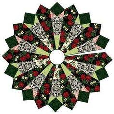 = free pattern = Joyeux Noel Tree Skirt by Studio E Fabrics Xmas Tree Skirts, Christmas Tree Skirts Patterns, Christmas Tree Quilt, Christmas Skirt, Christmas Sewing, Christmas Projects, Christmas Stockings, Christmas Crafts, Christmas Quilting