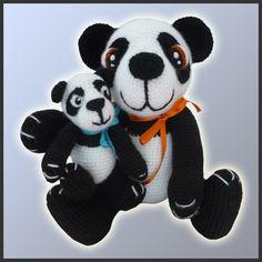 Amigurumi Patterns Crochet Panda Bears by DeliciousCrochet