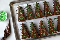 Christmas Brownies Recipe-pinning for method of cutting and decorating the brownies. The recipe looks worth a try, too!