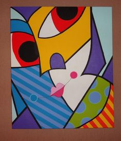 ATELIÊR ARTE MULTICOLORIDA Painting Corner, Art Therapy Projects, Cubism Art, Clowns, Deco, Picasso, Abstract Art, Illustration Art, Portraits