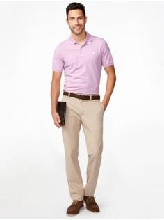 Make sure to tuck in your polo shirt and iron your khakis if you are allowed to wear them to the office!