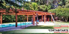 PROYECTOS | #tradicional #particular pérgola en madera sobre piscina 40m2 · #Majadahonda #MADRID  CORTABITARTEsoria.COM/proyectos